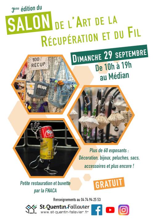 Salon art de la Récup' et du Fil St Quentin Fallavier