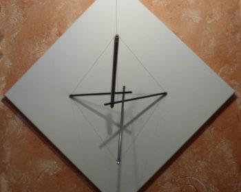 Sculpture murale design Tenségrité